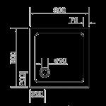 EGER (599-8080S) SMC 800*800*35 КВАДРАТНЫЙ