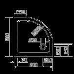 EGER (599-8080R) SMC 800*800*35 ПОЛУКРУГЛЫЙ