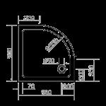 EGER (599-9090R) SMC 900*900*35 ПОЛУКРУГЛЫЙ