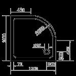 EGER (599-1010R) SMC 1000*1000*35 ПОЛУКРУГЛЫЙ